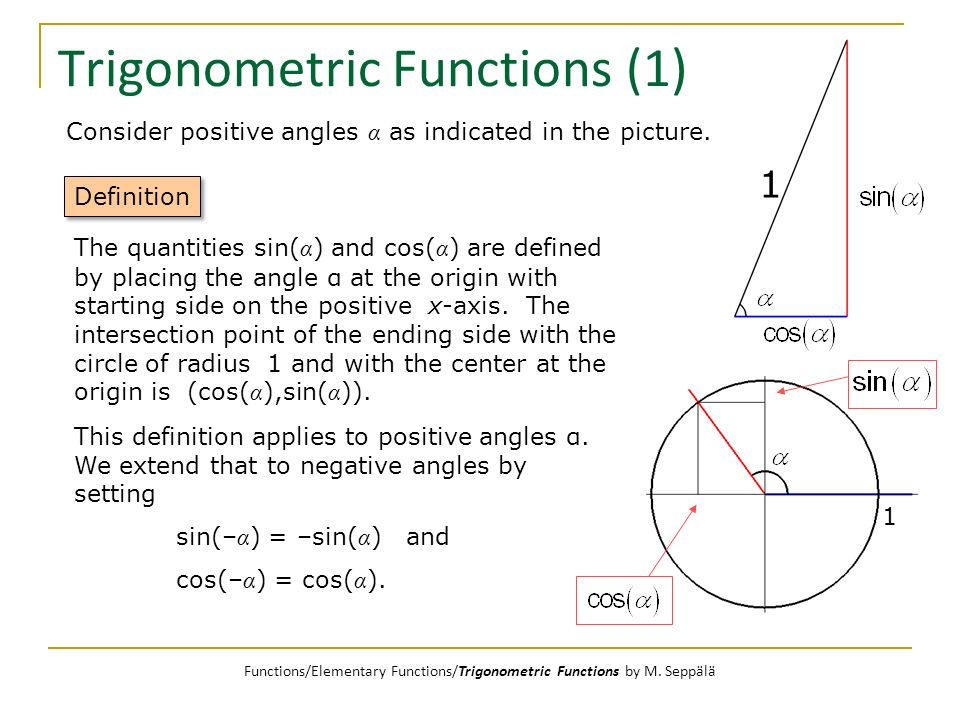 Trigonometric Functions (1)