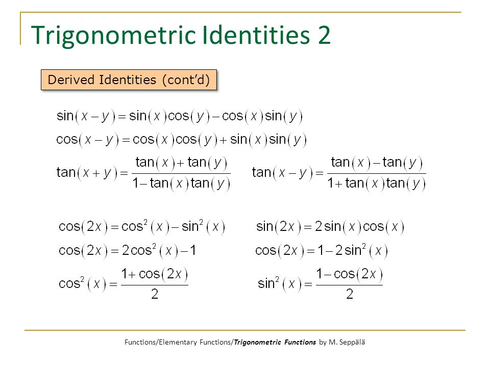 Trigonometric Identities 2