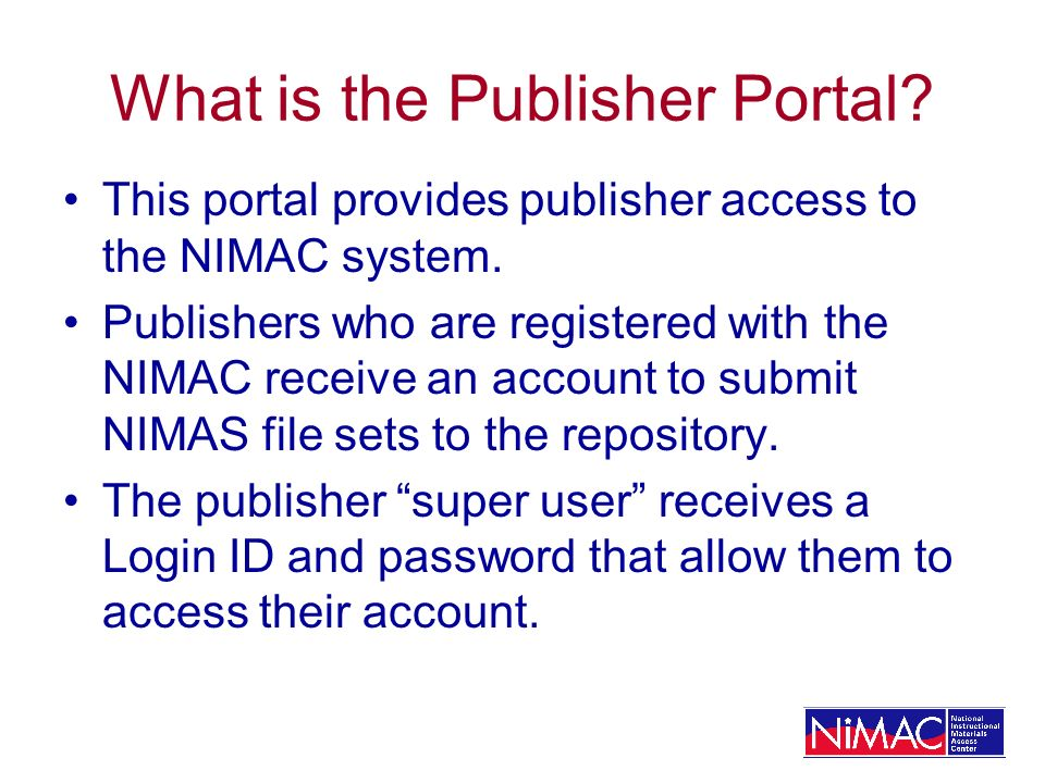 What is the Publisher Portal