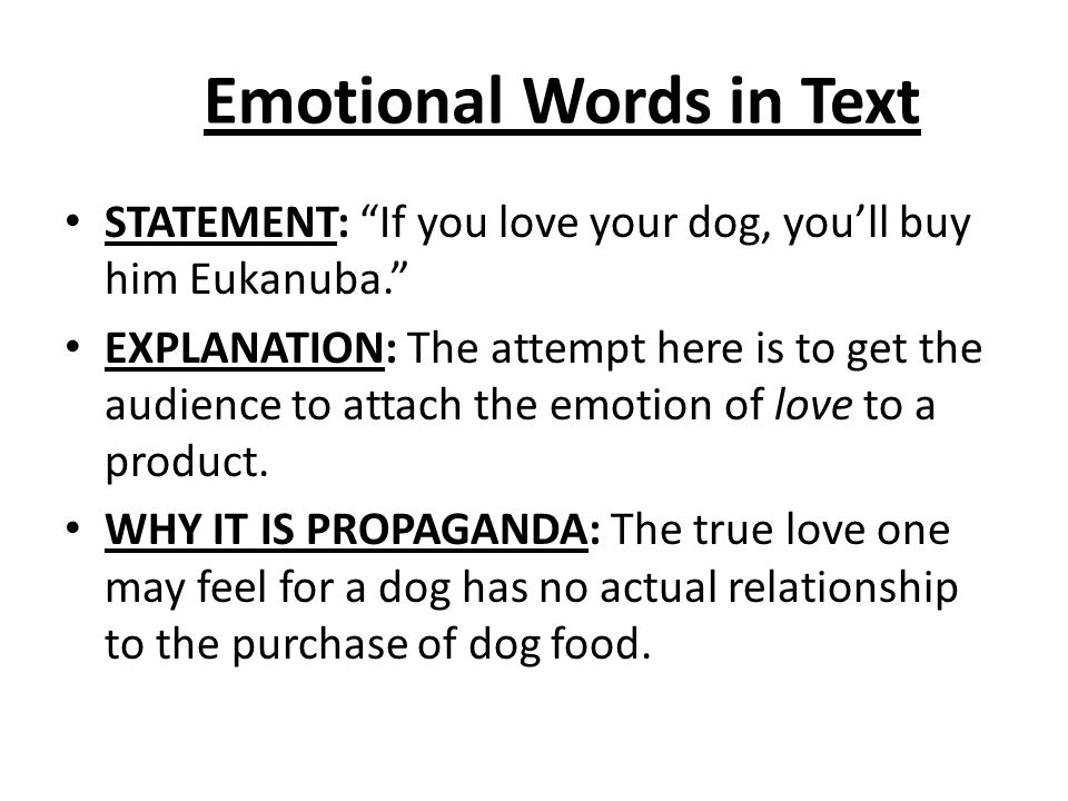 Emotional Words in Text