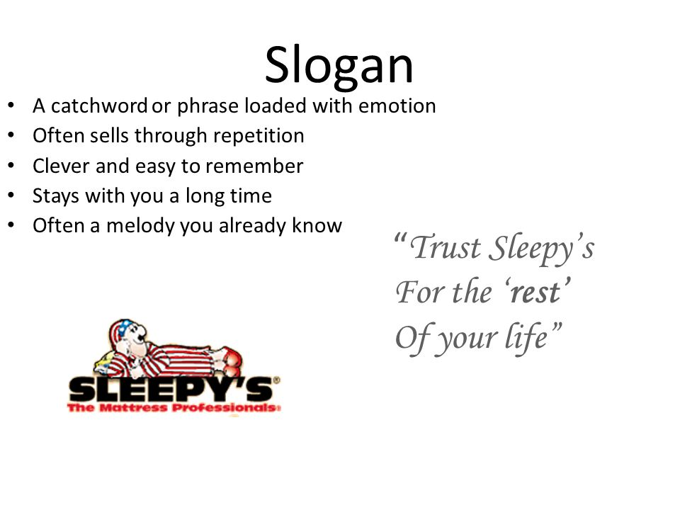 Slogan Trust Sleepy's For the 'rest' Of your life