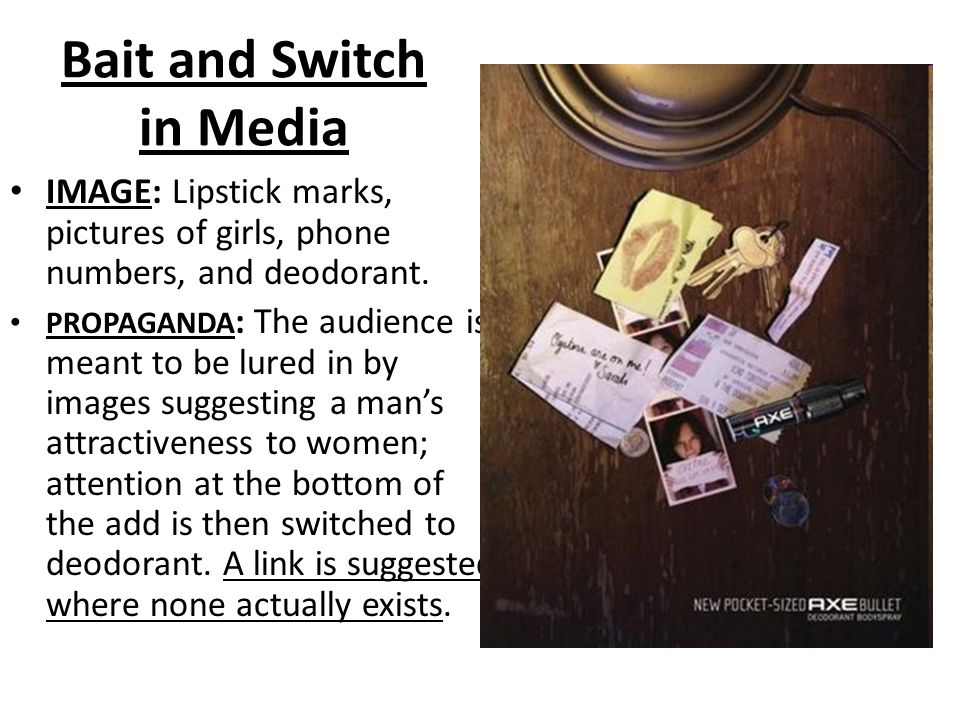 Bait and Switch in Media