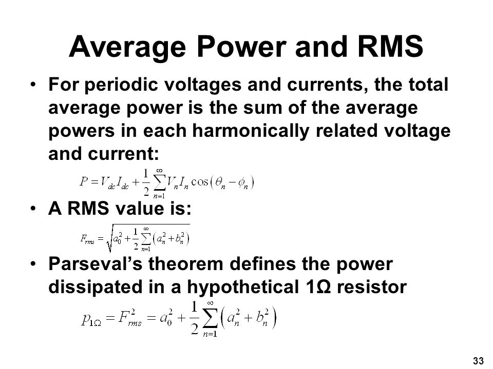 Average Power and RMS