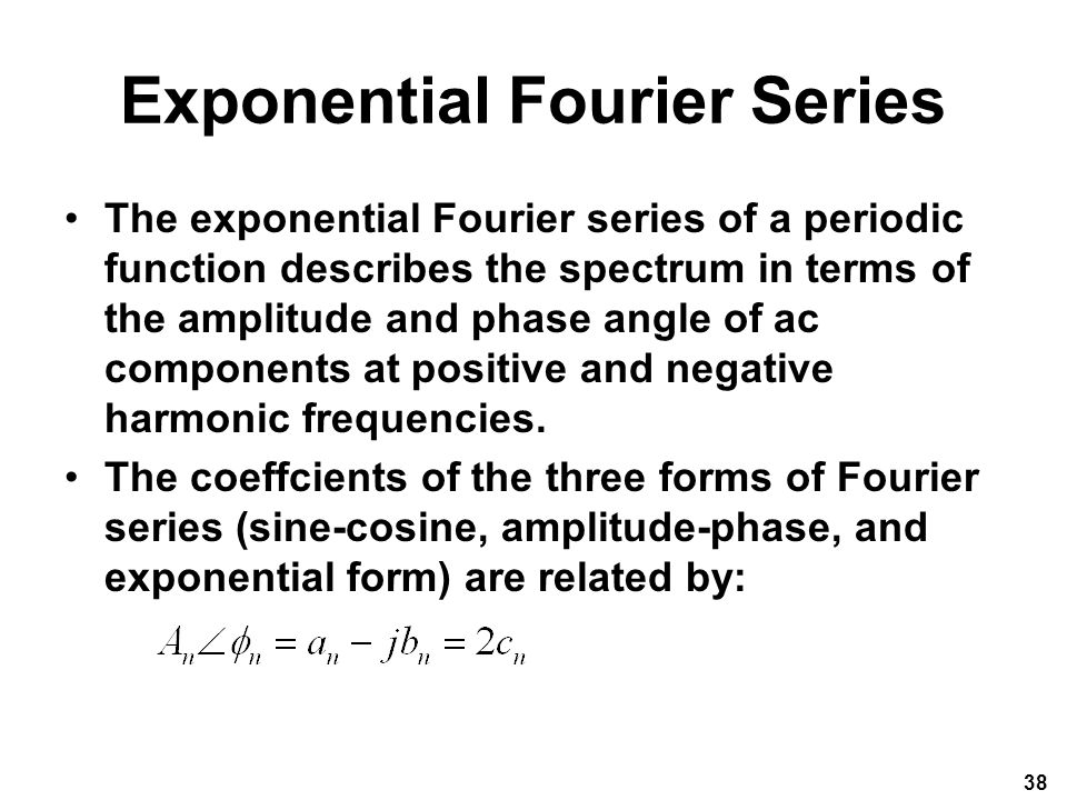 Exponential Fourier Series