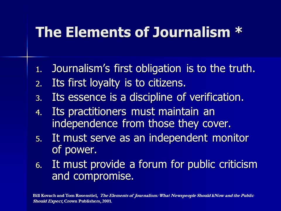 The Elements of Journalism *