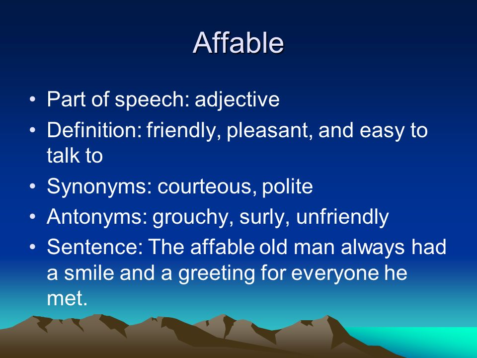 Vocabulary powerpoint ppt video online download 6 affable m4hsunfo