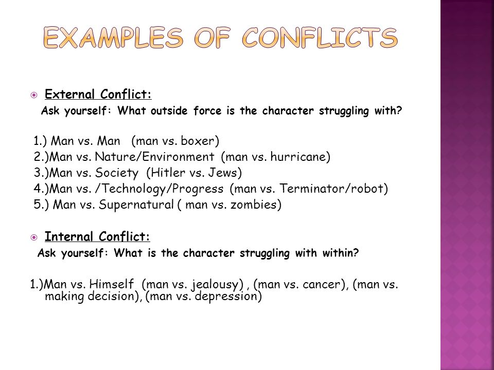 examples of conflict There are plenty of examples of conflict of interest in the workplace from dating in the office to working part time for a competing company, it's important to know what is considered a conflict of.