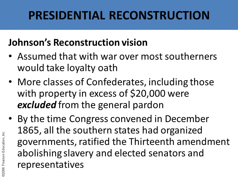 Reconstruction And The South Ppt Download