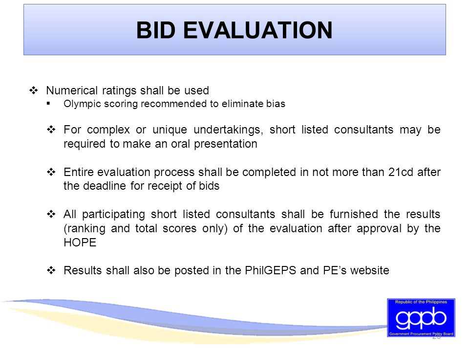 PHILIPPINE BIDDING DOCUMENTS CONSULTING SERVICES - ppt download