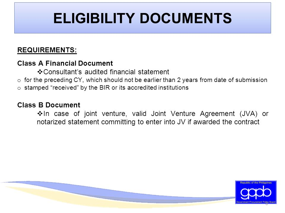 Philippine Bidding Documents Consulting Services Ppt Download