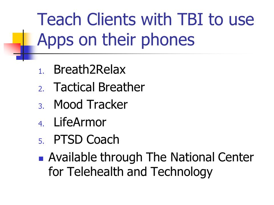 Teach Clients with TBI to use Apps on their phones