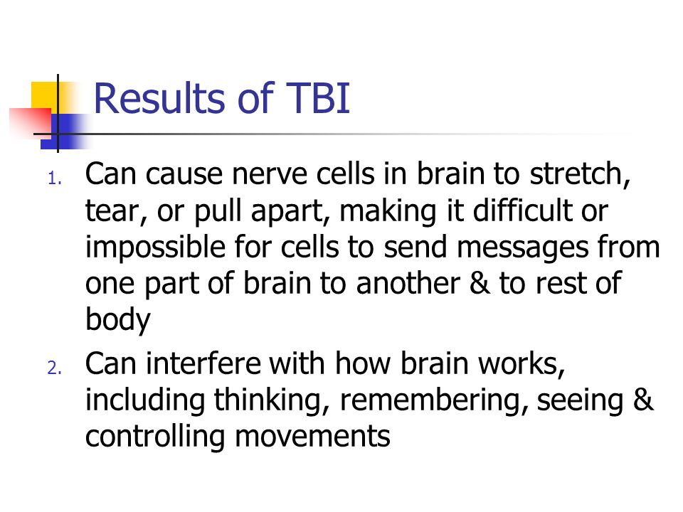 Results of TBI