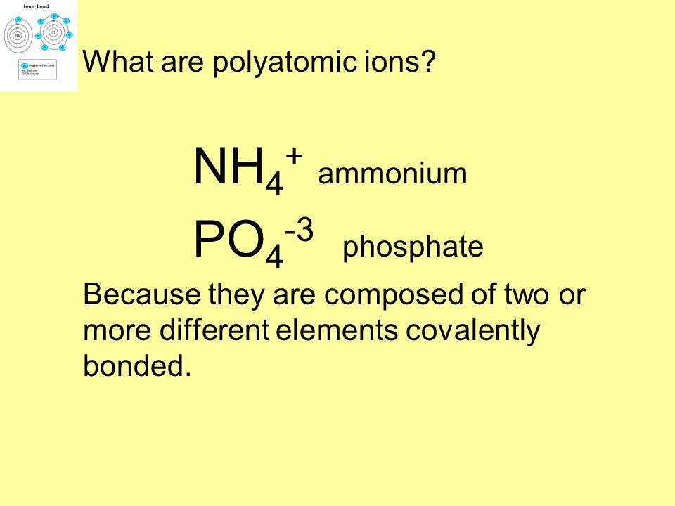What are polyatomic ions