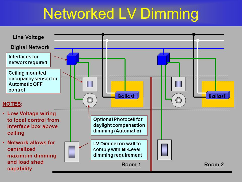 networked lv dimming line voltage digital network ballast ballast