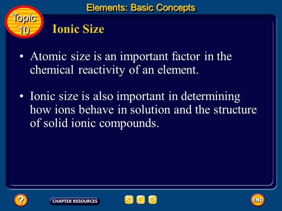 Elements: Basic Concepts