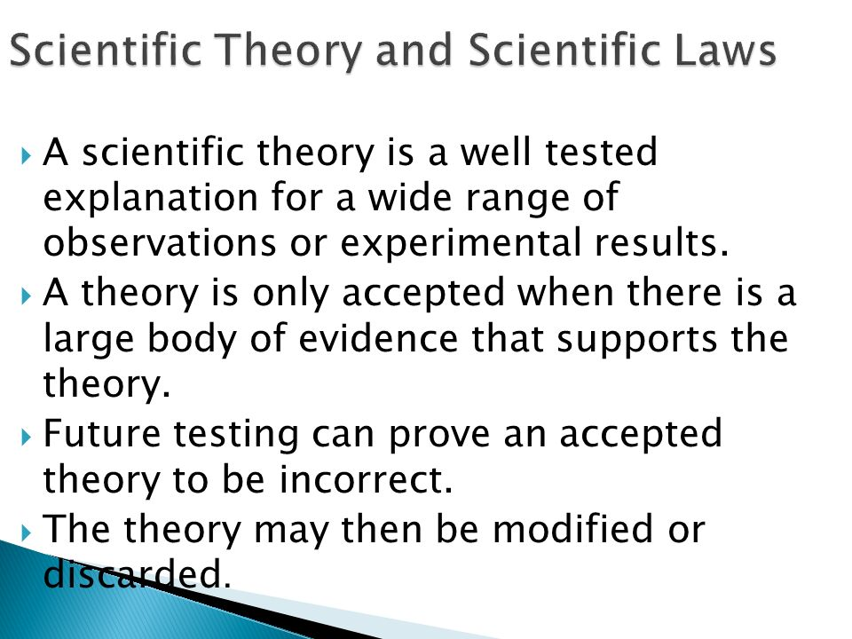 Scientific Theory and Scientific Laws