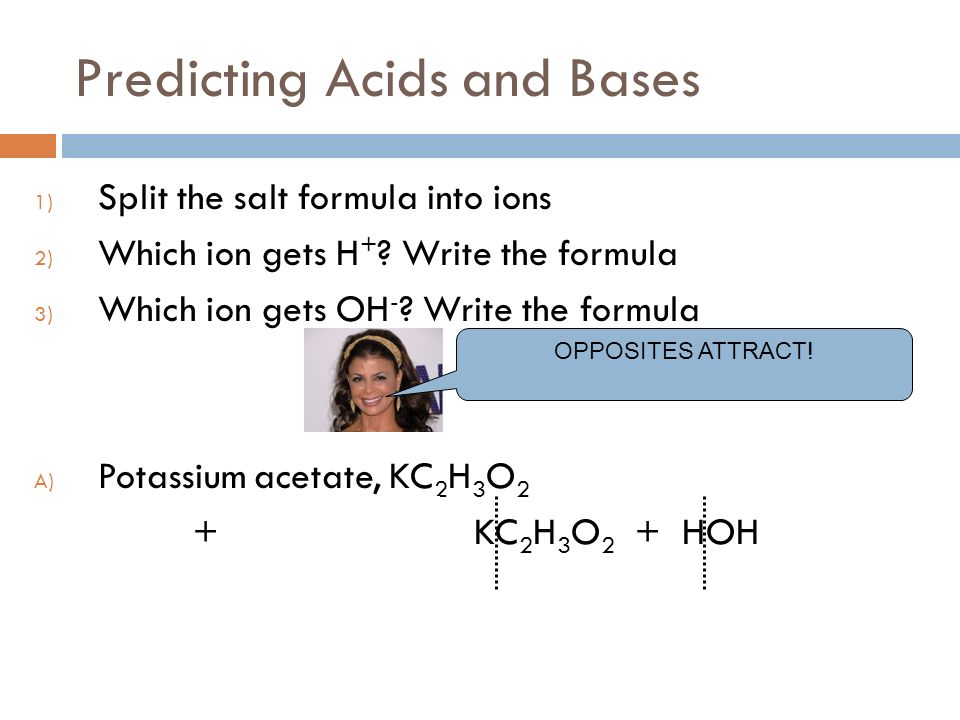 Predicting Acids and Bases