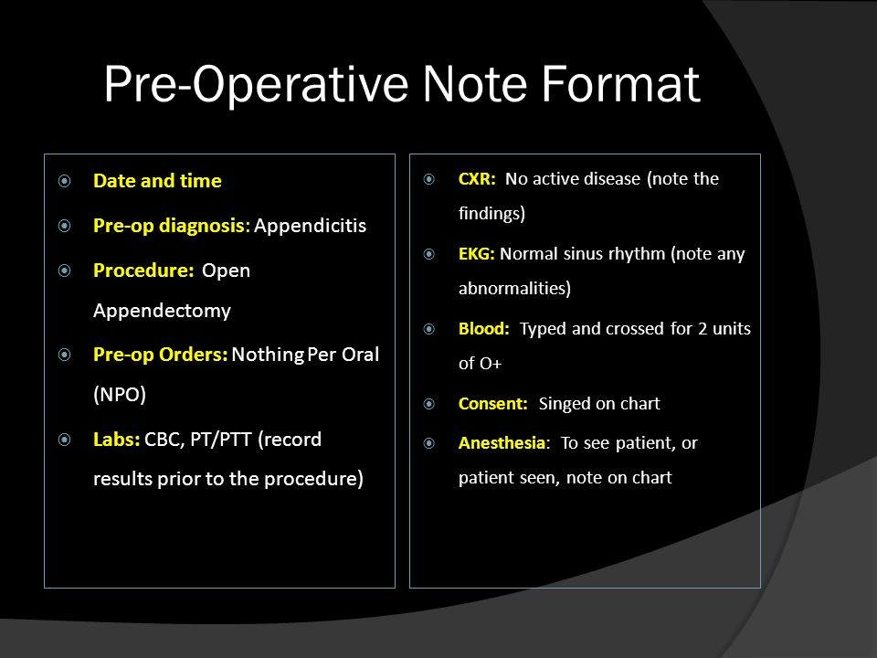 Basics of writing notes ppt video online download pre operative note format maxwellsz