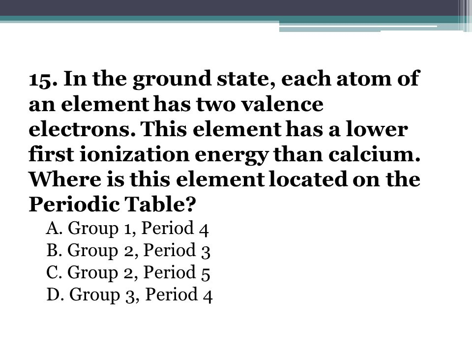 Where is this element located on the Periodic Table
