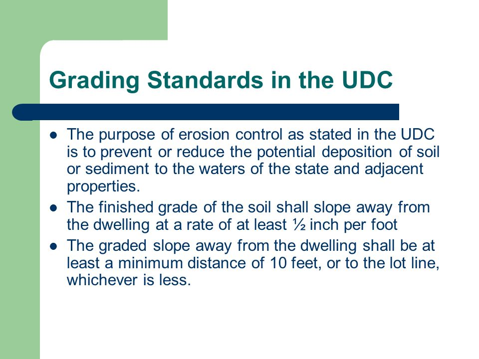 Grading Standards in the UDC