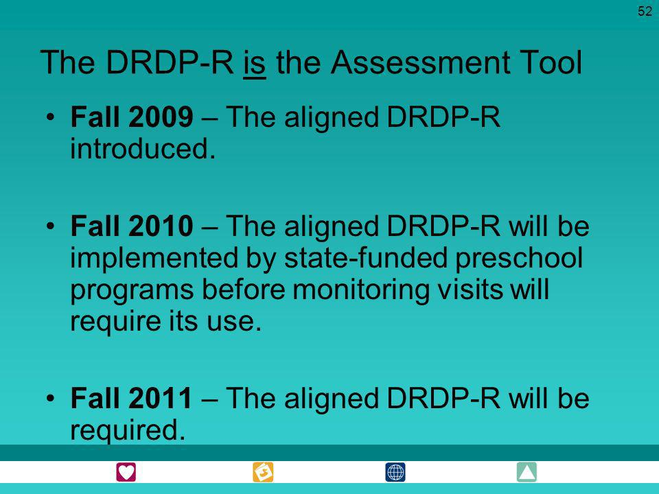 The DRDP-R is the Assessment Tool