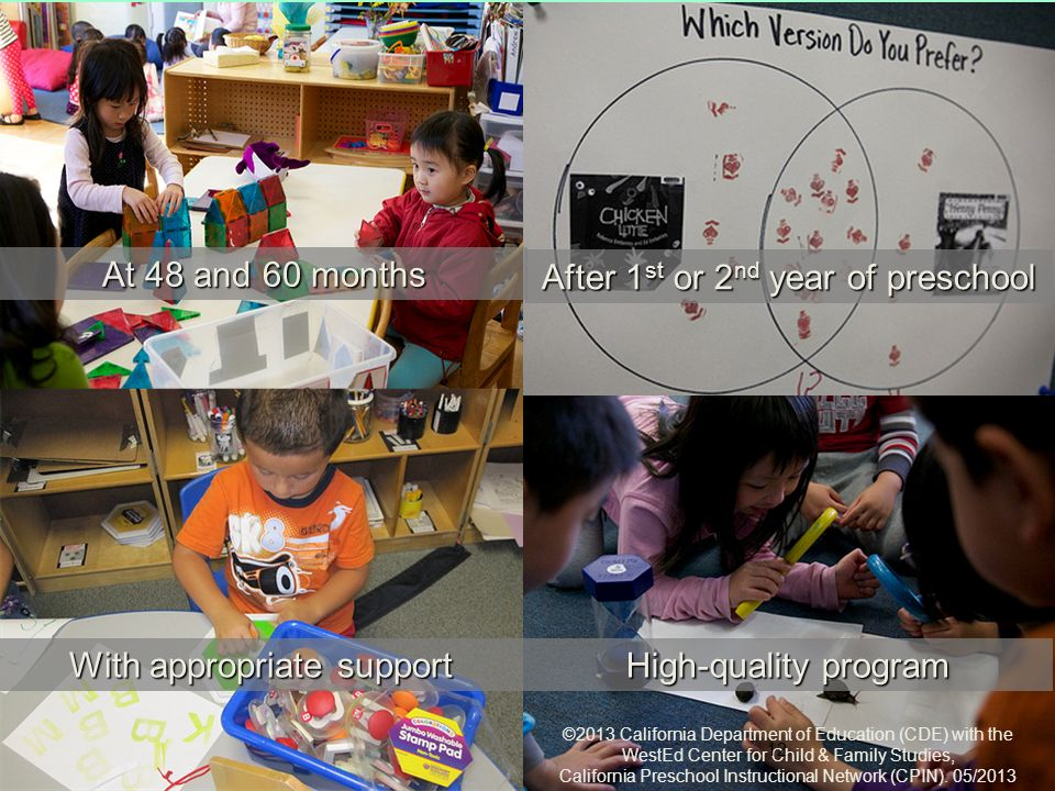 Foundations At 48 and 60 months After 1st or 2nd year of preschool