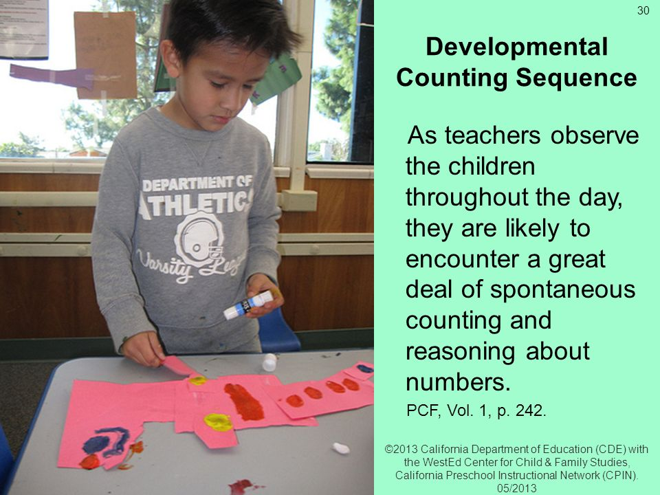 Developmental Counting Sequence