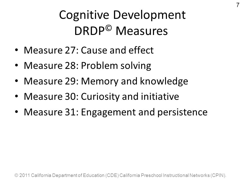 Cognitive Development DRDP© Measures
