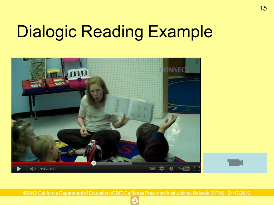 Dialogic Reading Example