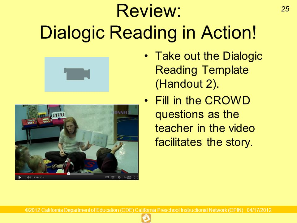 Review: Dialogic Reading in Action!