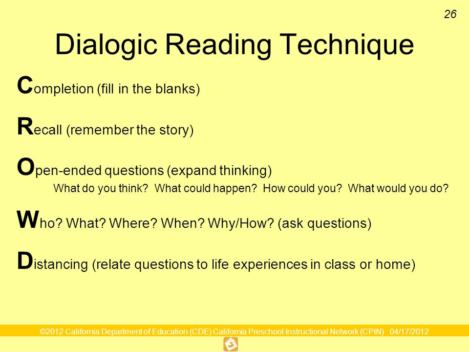 Dialogic Reading Technique