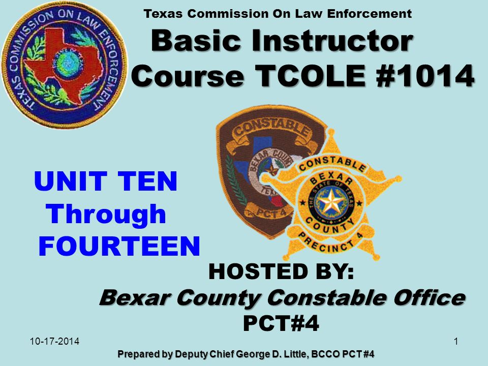 Basic Instructor Course TCOLE # ppt download