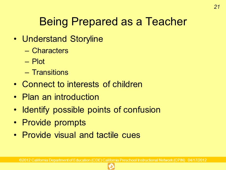 Being Prepared as a Teacher