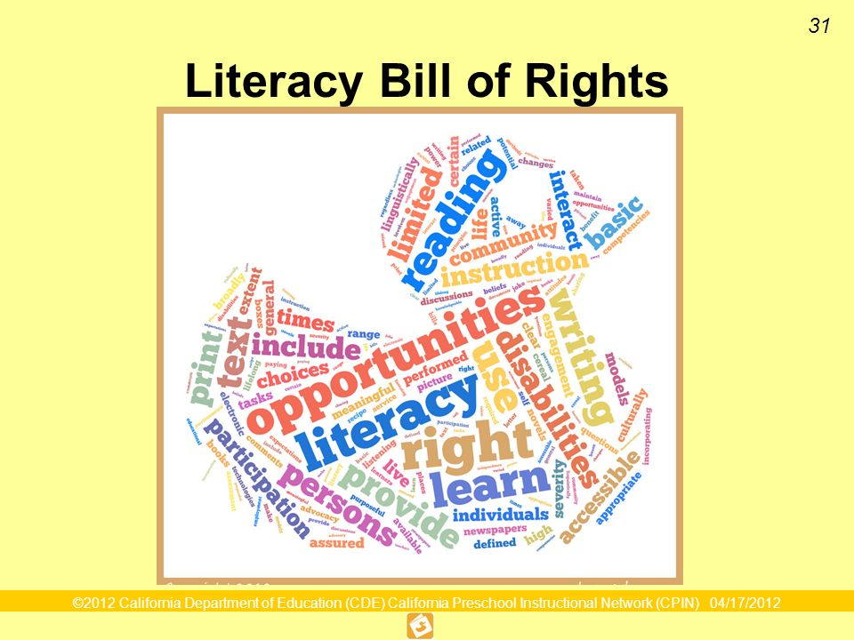 Literacy Bill of Rights