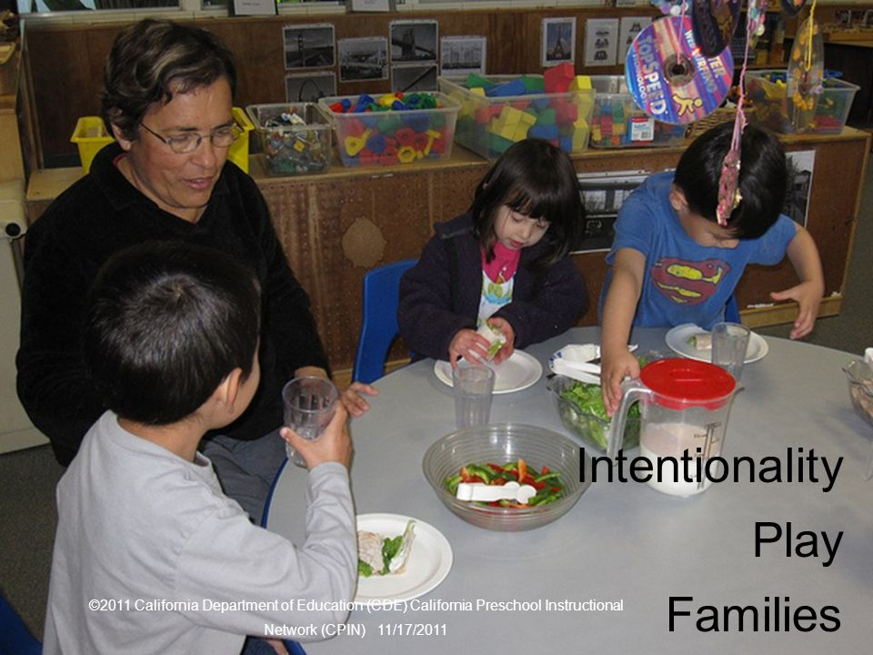 Three themes Intentionality Play Families
