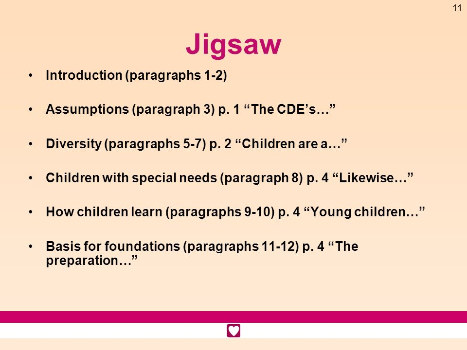 Jigsaw Introduction (paragraphs 1-2)