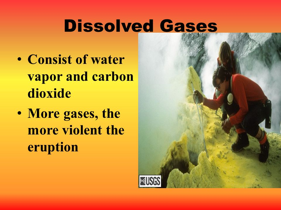 Dissolved Gases Consist of water vapor and carbon dioxide