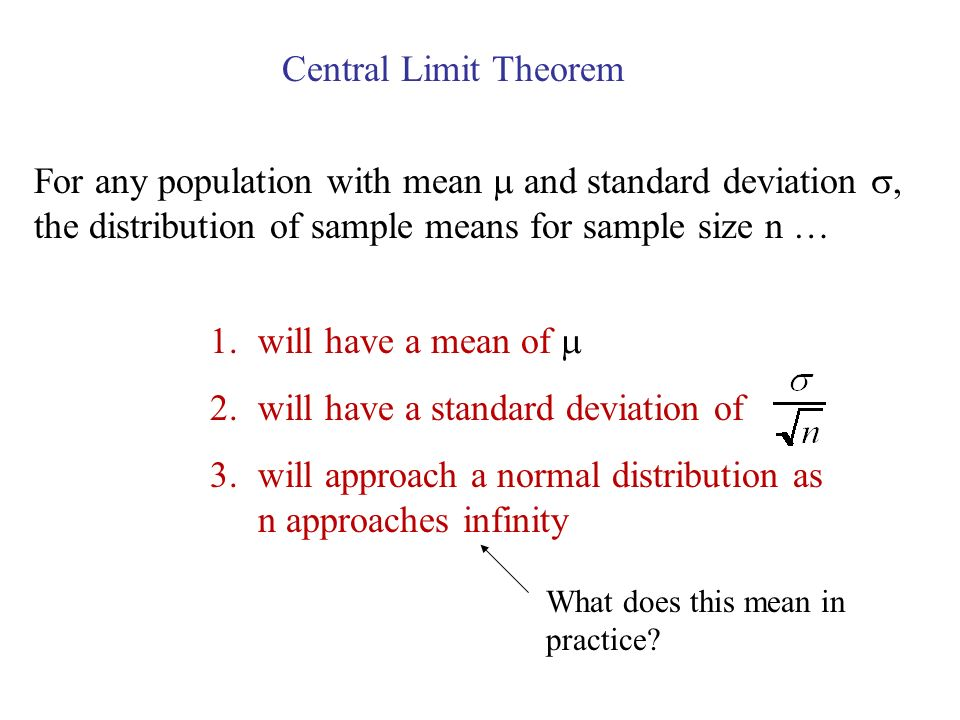 will have a standard deviation of