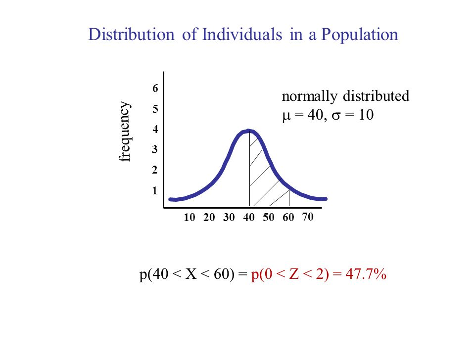Distribution of Individuals in a Population