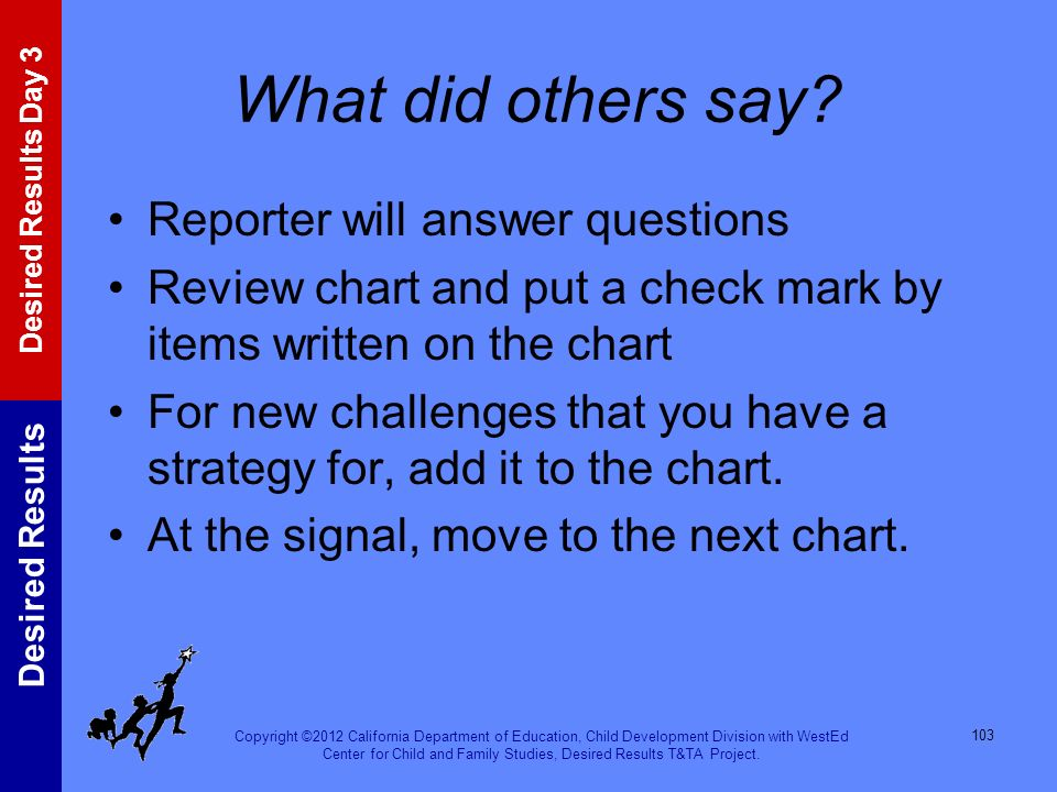 What did others say Reporter will answer questions