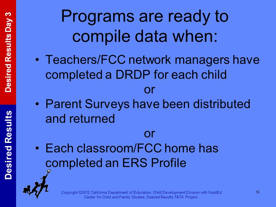 Programs are ready to compile data when: