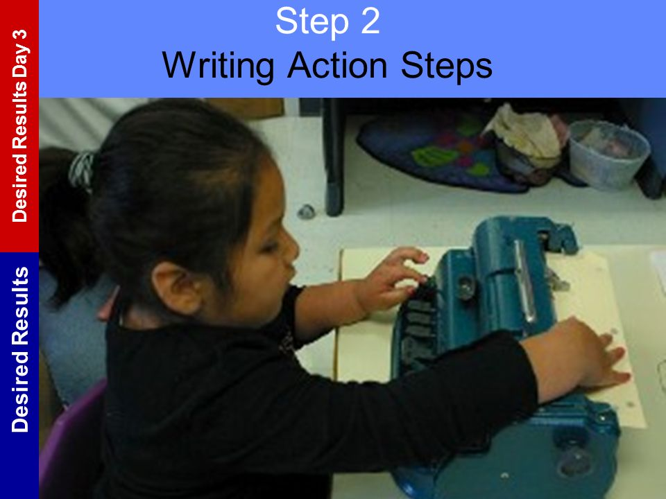 Step 2 Writing Action Steps