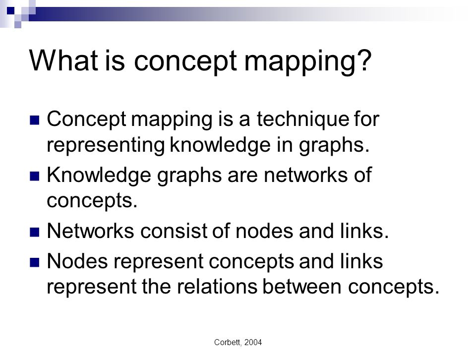 What is concept mapping
