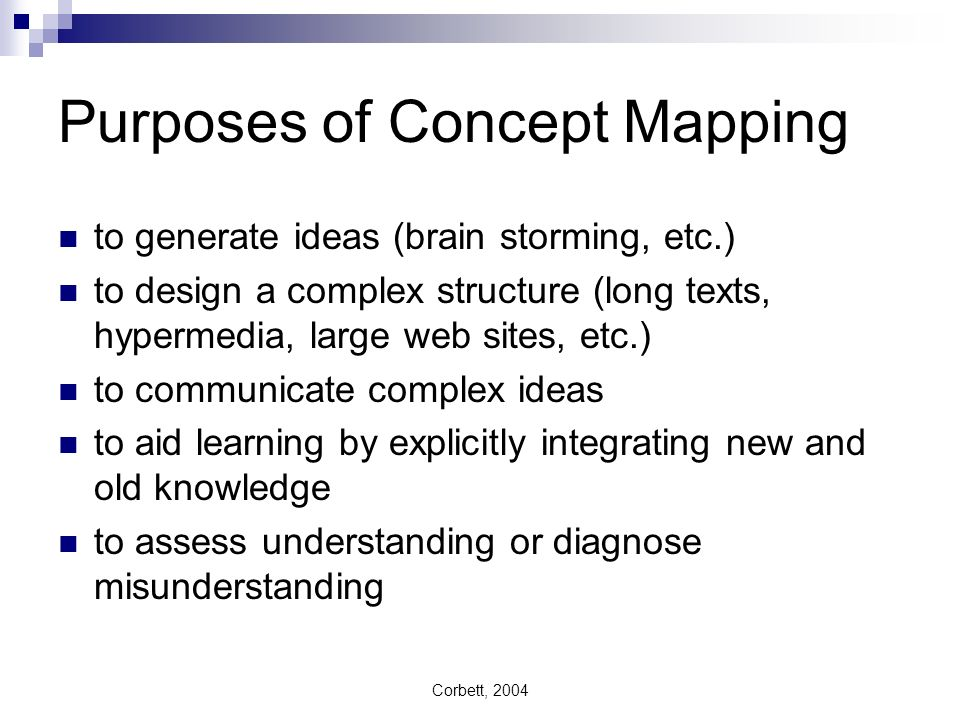 Purposes of Concept Mapping