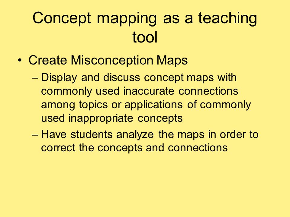 how to teach concept mapping