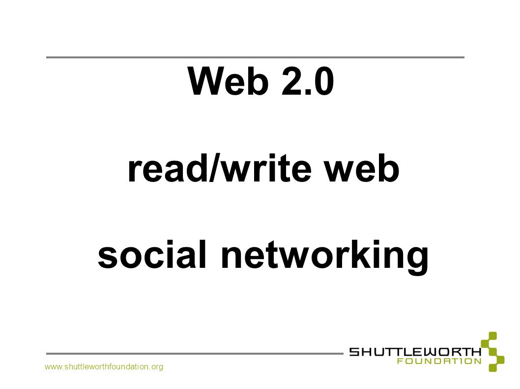 read/write web social networking