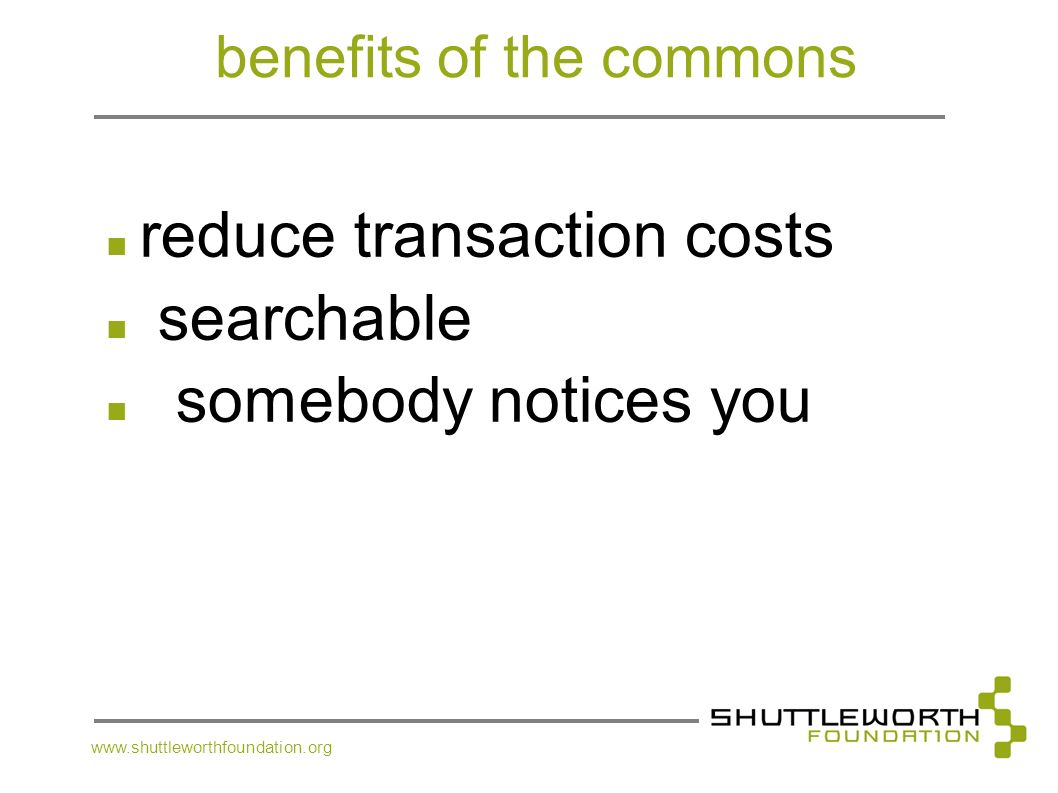 benefits of the commons