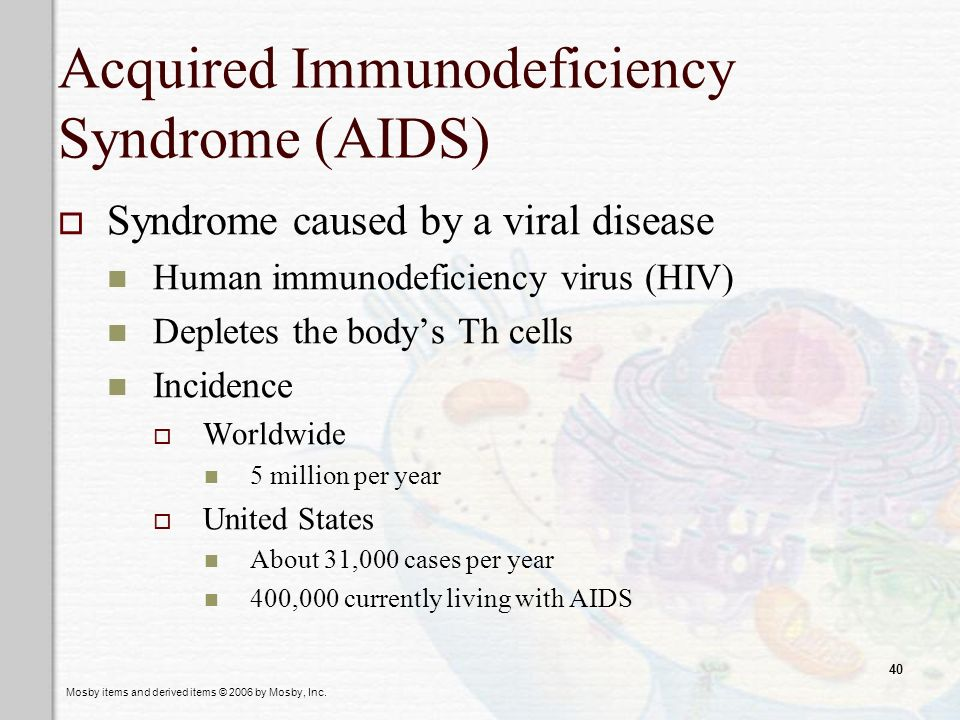Acquired Immunodeficiency Syndrome (AIDS)