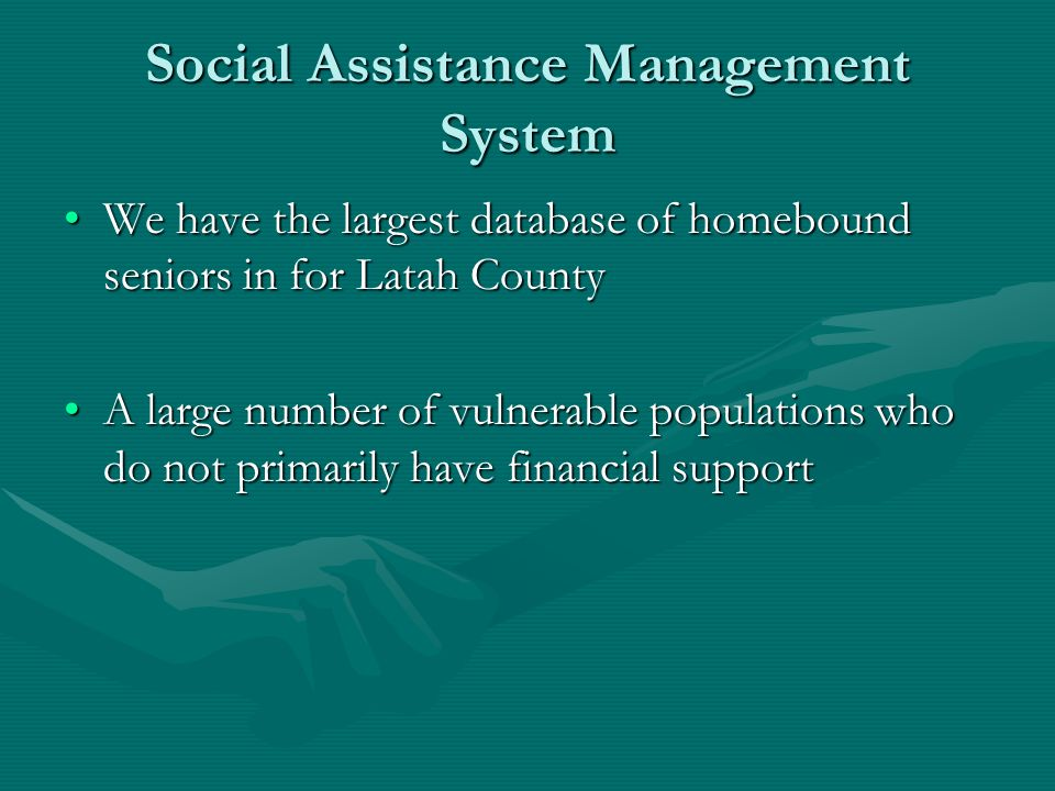 Social Assistance Management System