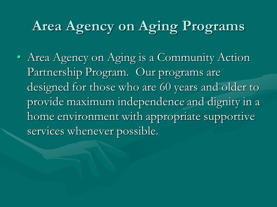 Area Agency on Aging Programs
